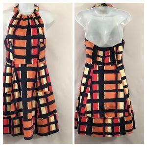 Jessica Simpson Geometric Halter Dress DD03